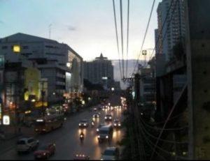 夕暮れ時のバンコク