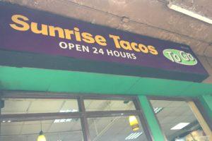 Sunraise Tacos to go
