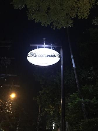 Antonio's sign
